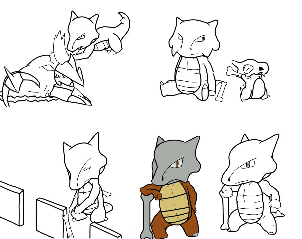 Marowak Doodles by Glen-i