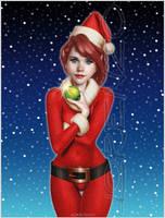 Christmas Elf Girl by LorenzoDiMauro