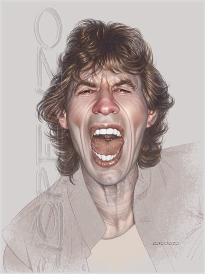 Mick Jagger by LorenzoDiMauro