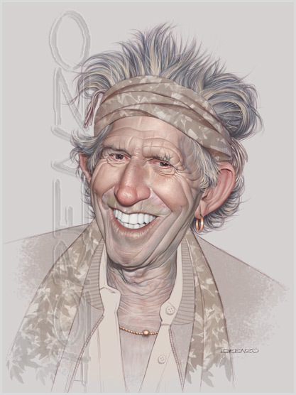 Keith Richards by LorenzoDiMauro