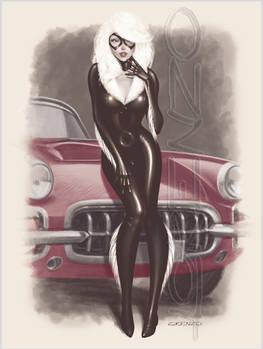 Black Cat Corvette