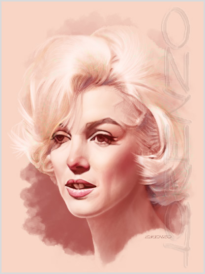 Marilyn Quick Study 4 by LorenzoDiMauro
