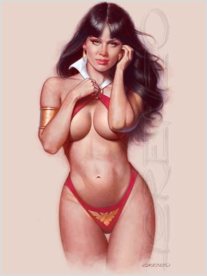 Vampirella Is Back by LorenzoDiMauro