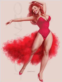 Burlesque In Red