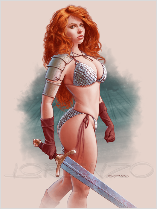 One More Red Sonja by LorenzoDiMauro