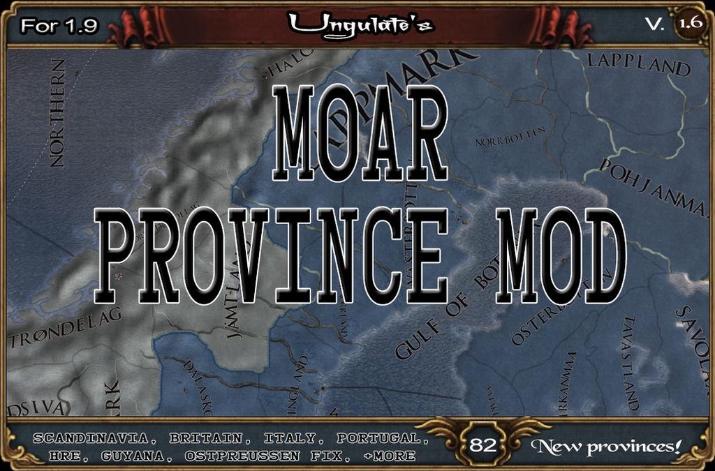 Ungulate's Moar Province EU4 Mod - Steam thumbnail by Korrasalami on