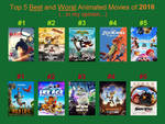 Top 5 Best and Worst Animated Movies of 2016