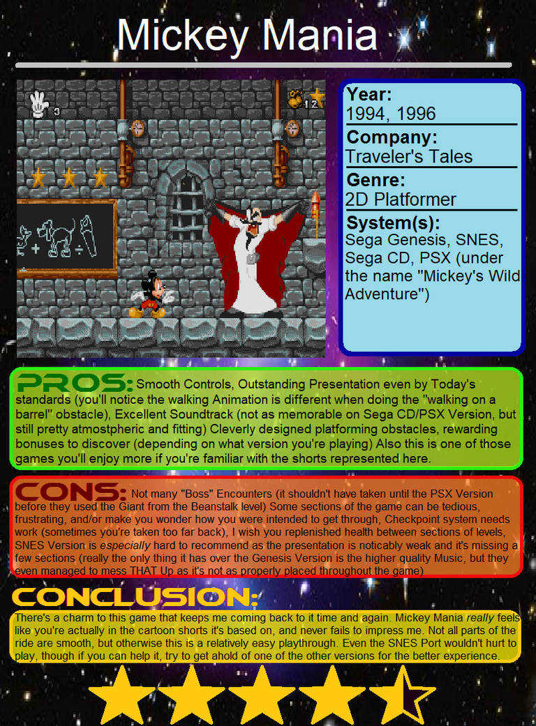 Quick Review: Mickey Mania by JIMATION-AKA-LX on DeviantArt