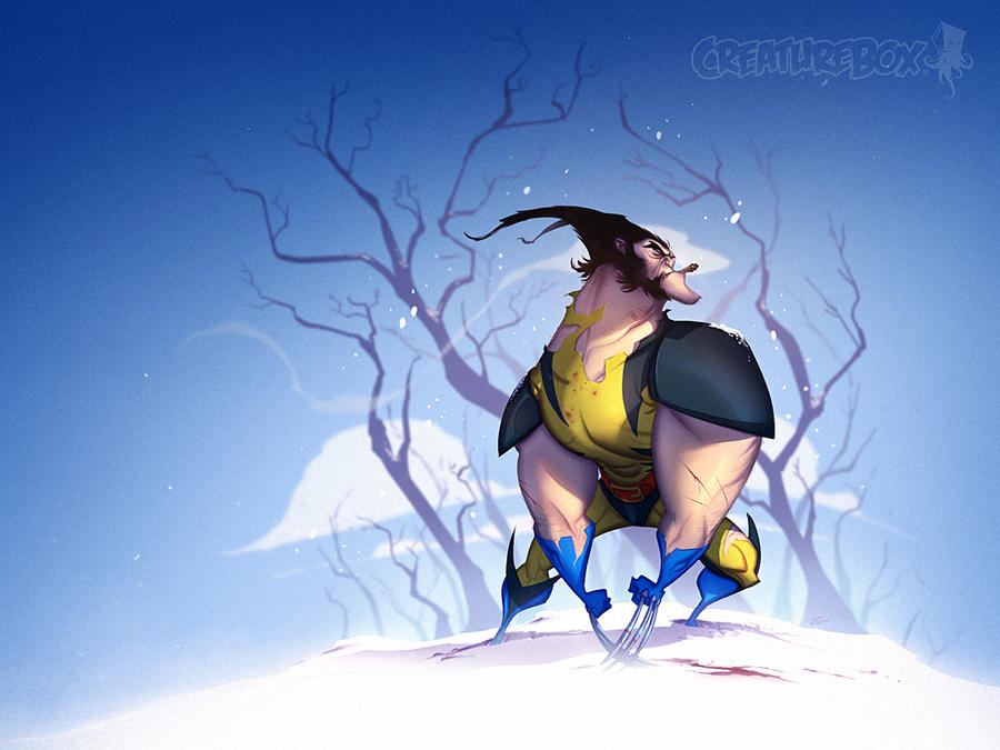 Wolverine Winter Wonderland by CreatureBox