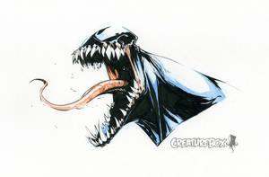 Venom Head Sketch by CreatureBox