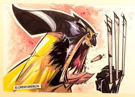 Barking Wolverine by CreatureBox