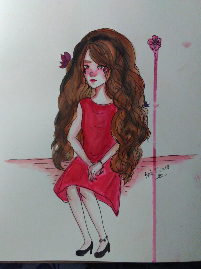 Scarlet Girl by ZINNYFILL