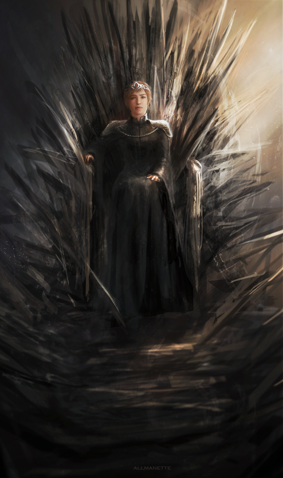 Iron throne by allmanette on deviantart for Iron throne painting