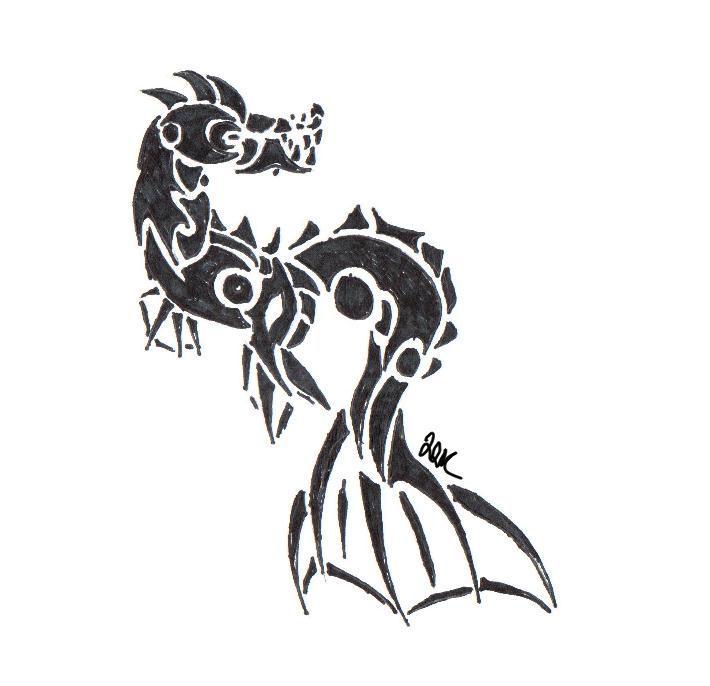 Tribal Sea dragon by Whisper-of-a-phoenix