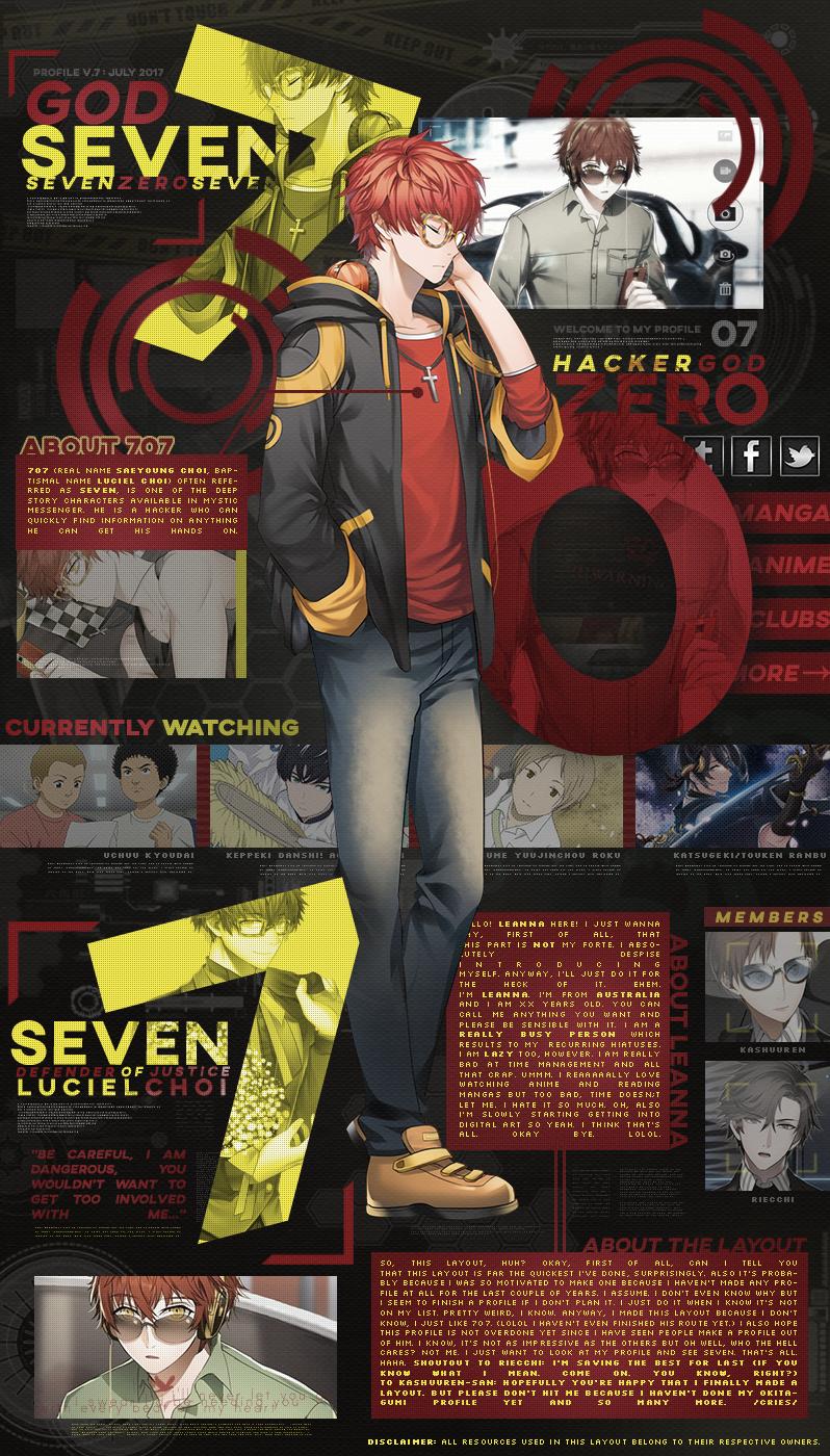 [MAL Profile] Mystic Messenger: 707