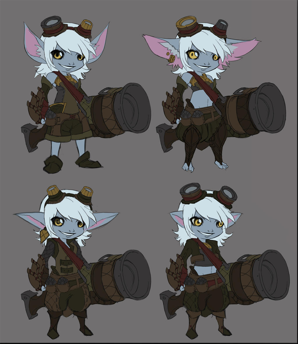 Tristana Rework Concepts by Lonewingy