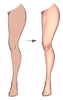 Leg coloring tutorial
