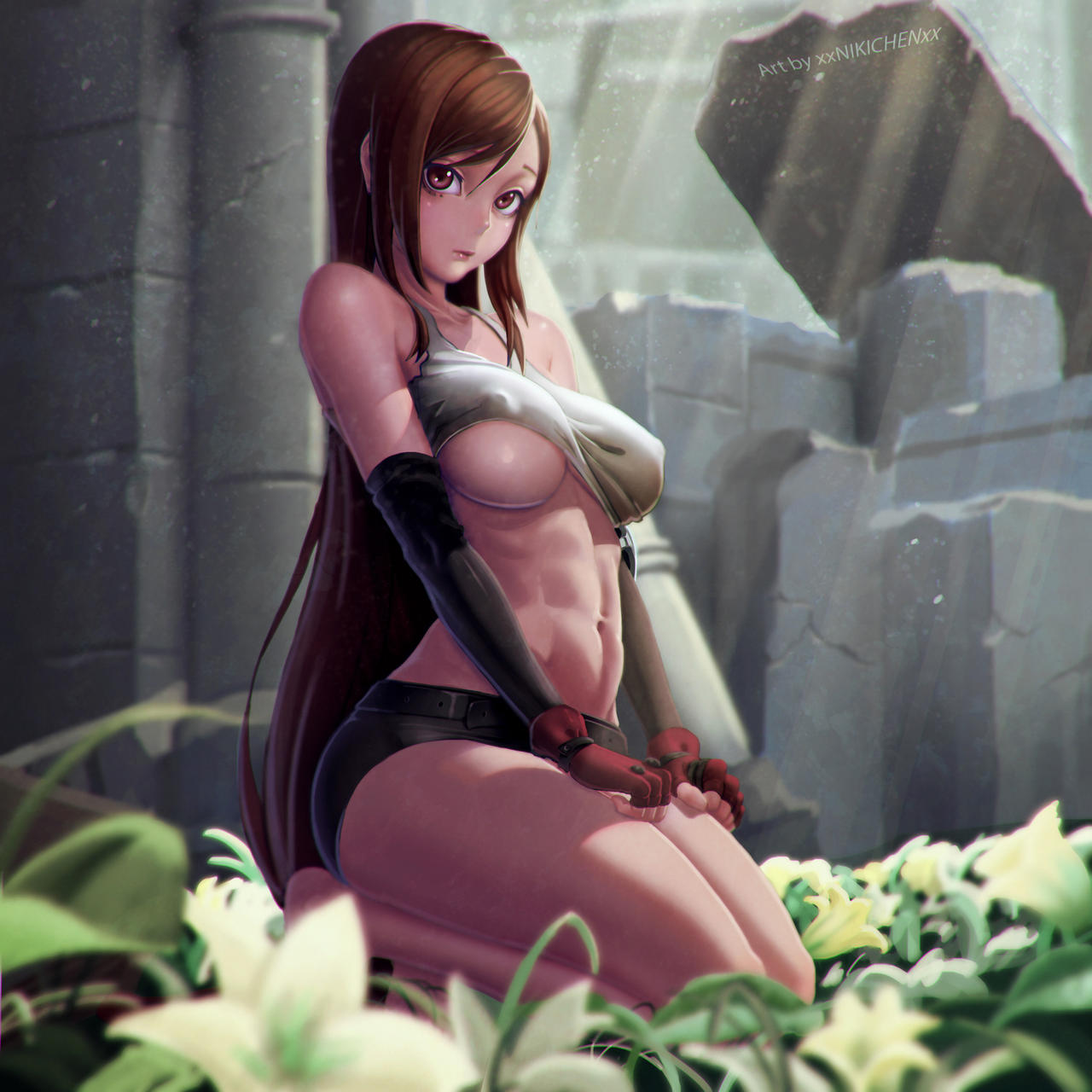 I saw Tifa in a nude cameo appearance - Final
