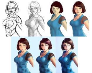 Portrait order 6 Step by step by xxNIKICHENxx