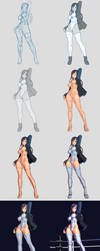 Comm work 19 (Girl on the ring) Step by step by xxNIKICHENxx