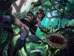 Comm work 35 Morbol attack (Final Fantasy XIV)