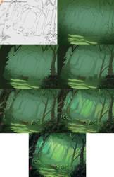 Juri (Street Fighter) background steps by xxNIKICHENxx