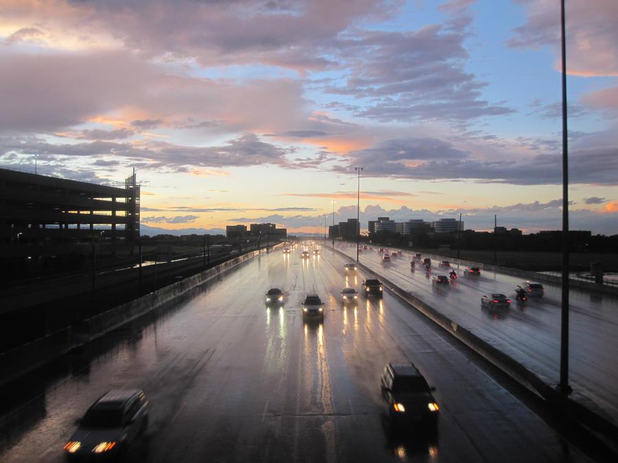 Street and Sky by r-a-i-n-y