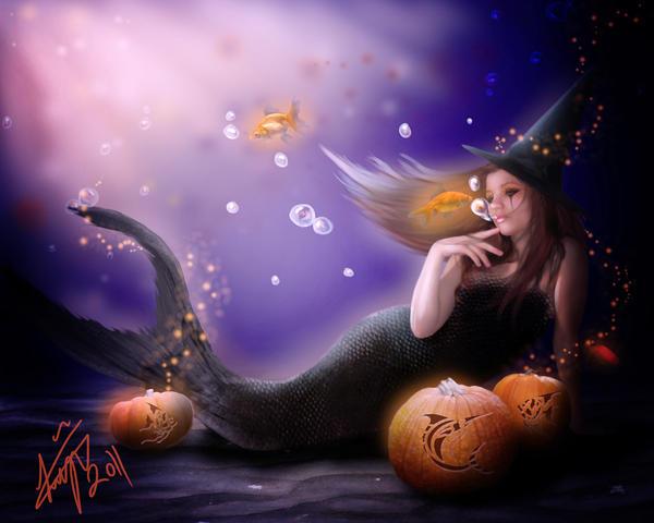 Halloween Mermaid by BKLH362