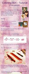 Coloring Skin (Color pencils tutorial) by BKLH362