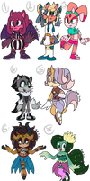 Sonic Adoptables 13 (CLOSED)