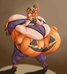 Pumpkin Maddi by SpiralingStaircase