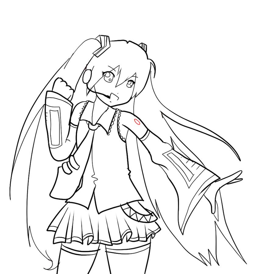 hatsune miku chibi coloring pages - Hatsune Miku Chibi Coloring Pages