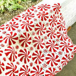 Red Heart Peppermint Swirl Throw