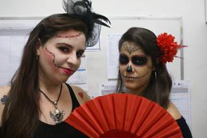 Mask and Sugar Skull makeup