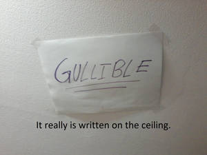It's on my ceiling.