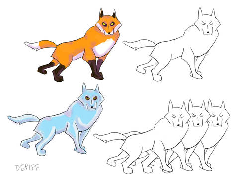 Foxes and Wolves