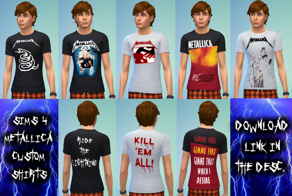 Sims 4 Metallica Shirts Cc Download In Desc By Syrinxpriest2112