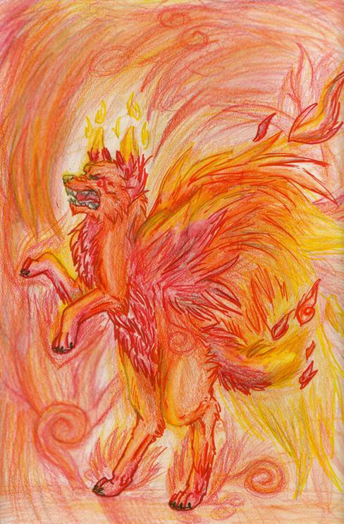 Fire Element Wolf