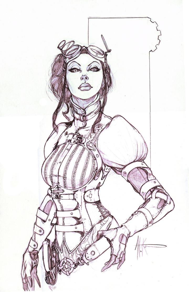 Lady Mechanika Comic Con Comis by alexkonat