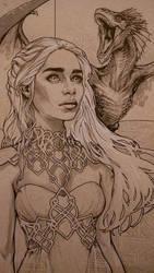Daenerys detail by alexkonat