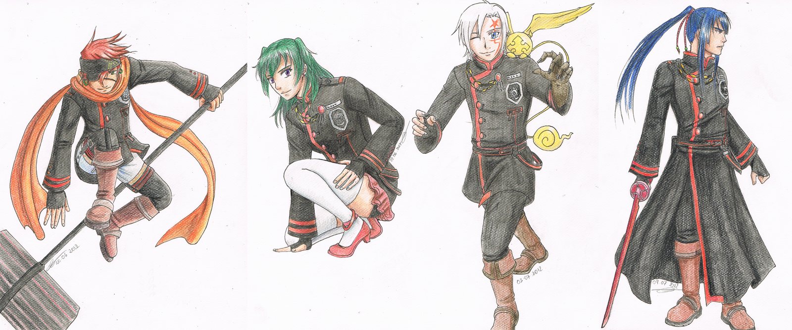 D Gray Man Anime Characters : Favourite characters d gray man by koto wari on deviantart
