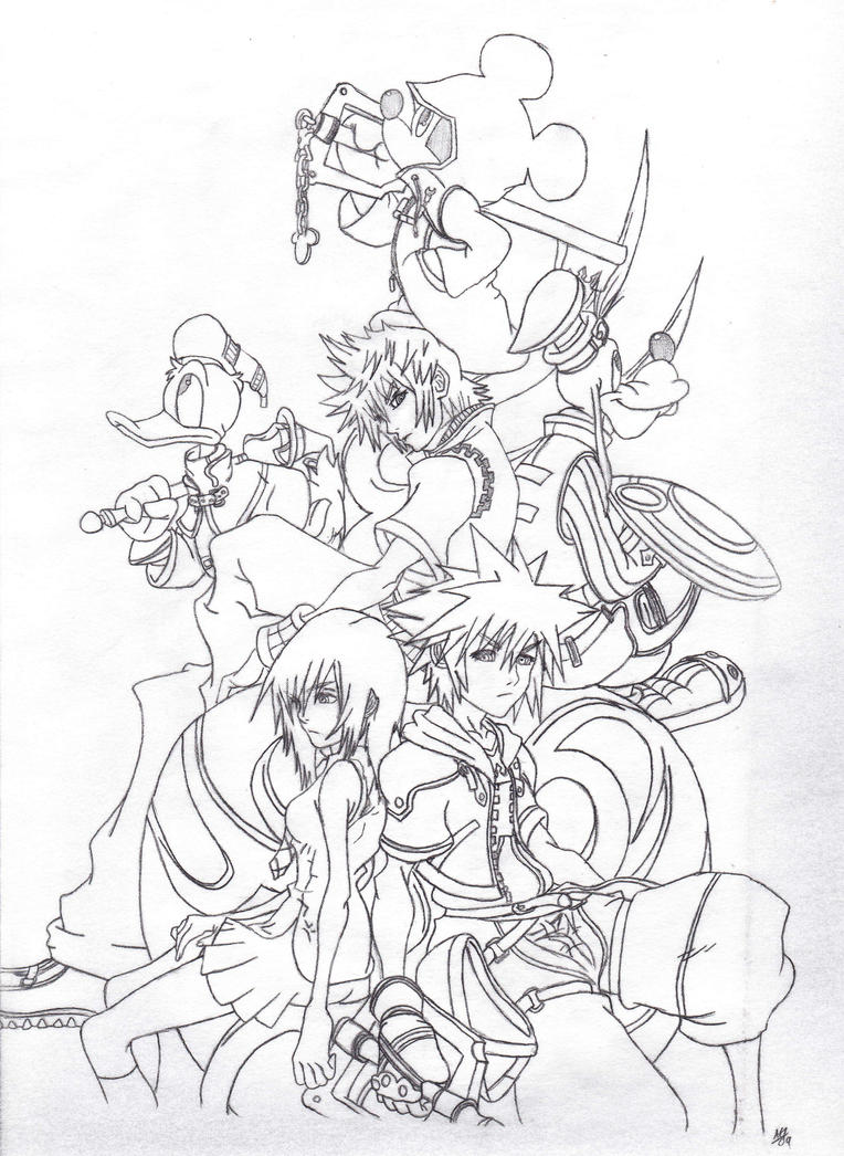 Kingdom Hearts Coloring Pages Sora