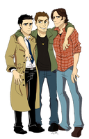 SPN: Three Best Friends by ArtisticCole