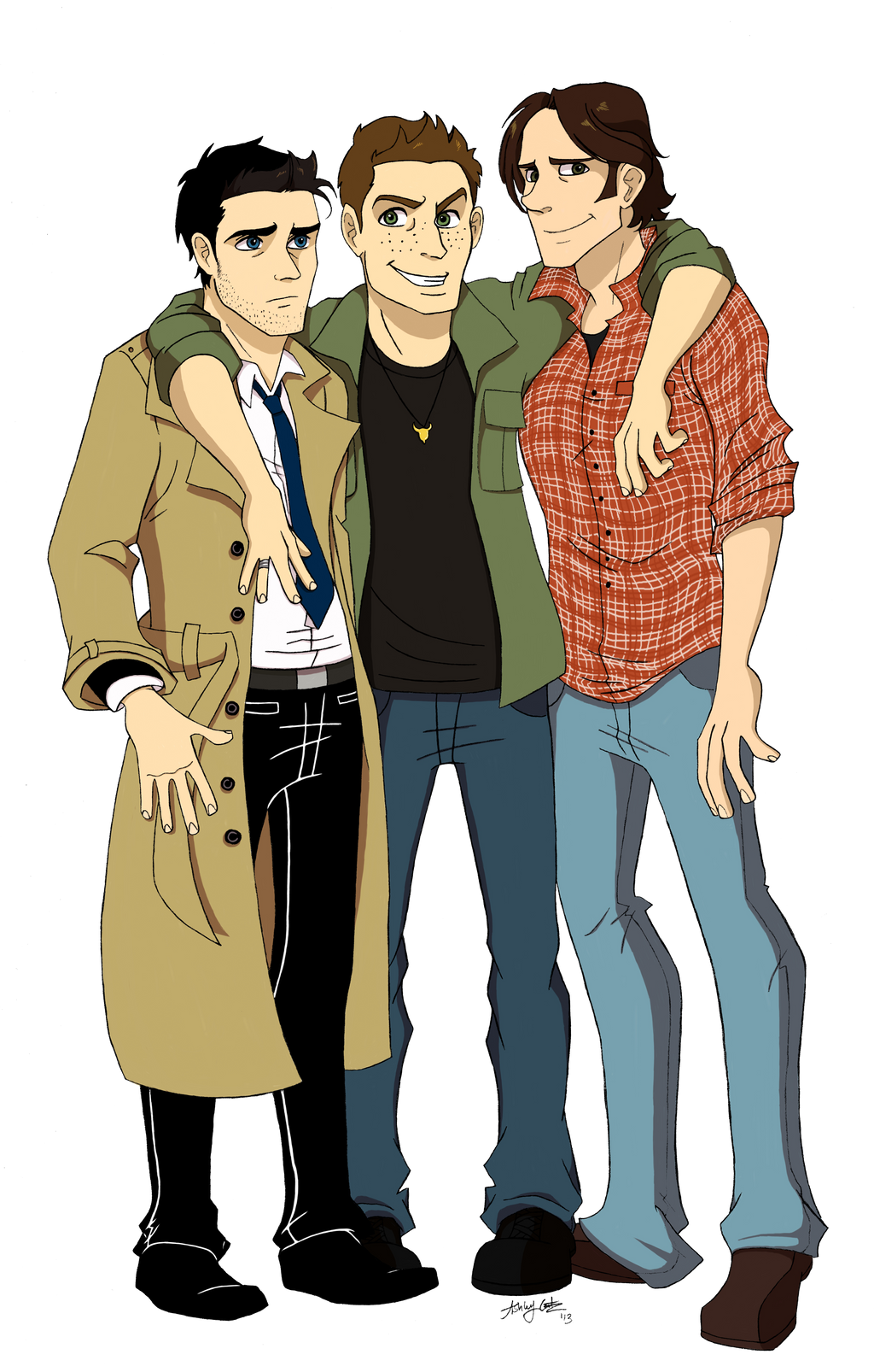 spn: three best friendsartisticcole on deviantart