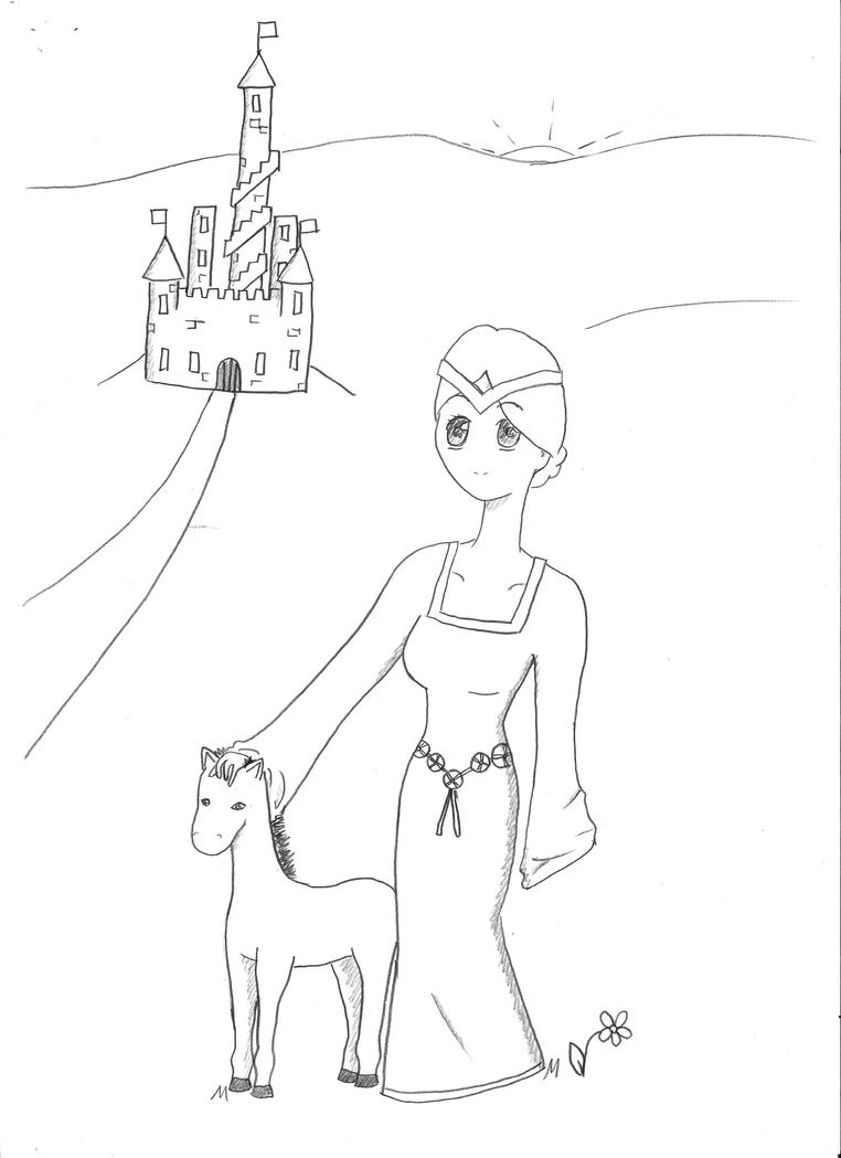 medieval princess coloring pages - medieval princess by crazylovecherry on deviantart