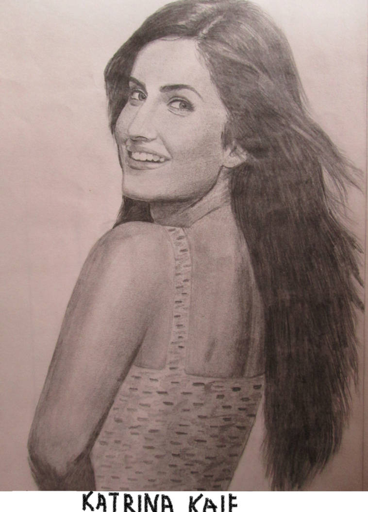 Katrina kaifs pencil drawing by pritha bhatt