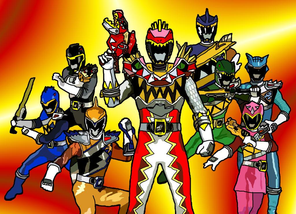 Eight Kyoryugers by LavenderRangerZyuden Sentai Kyoryuger Gold