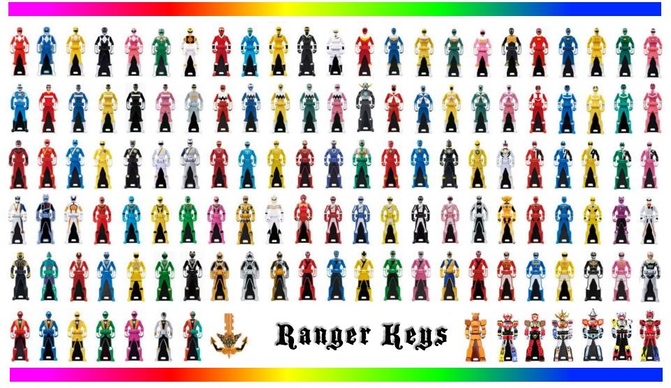 power rangers keys
