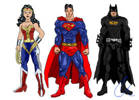 My Justice League: Batman, Superman, Wonder Woman by LavenderRanger