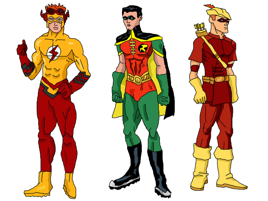 Young Justice - Kid Flash  Robin and Speedy by LavenderRangerYoung Justice Speedy